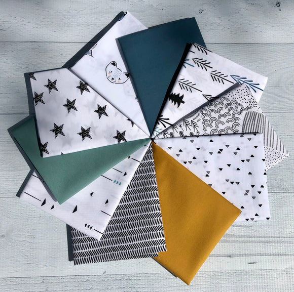 Pine Lullaby Rediscovered Blue Fat Quarter Bundle
