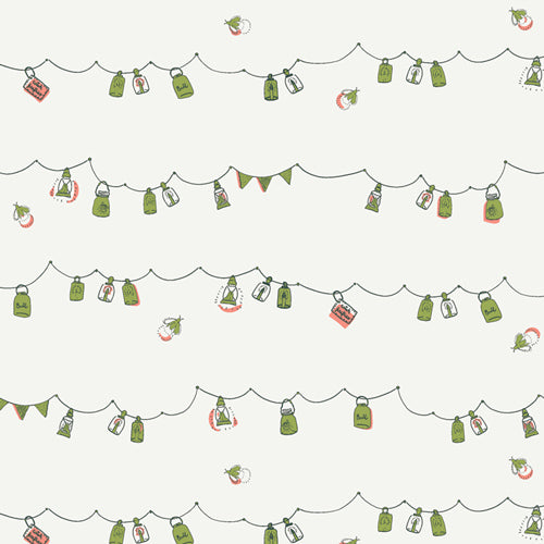 Dew and Moss Playful-Mini-Bunting White