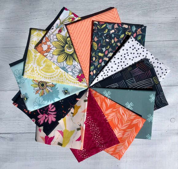 Pollinate Fat Quarter Bundle by Jessica Swift