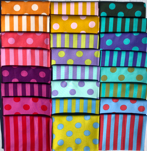 Poms and Stripes Half Yard Bundle by Tula Pink