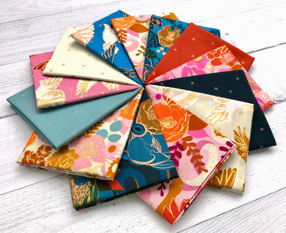 Rise Fat Quarter Bundle 14pcs with 23