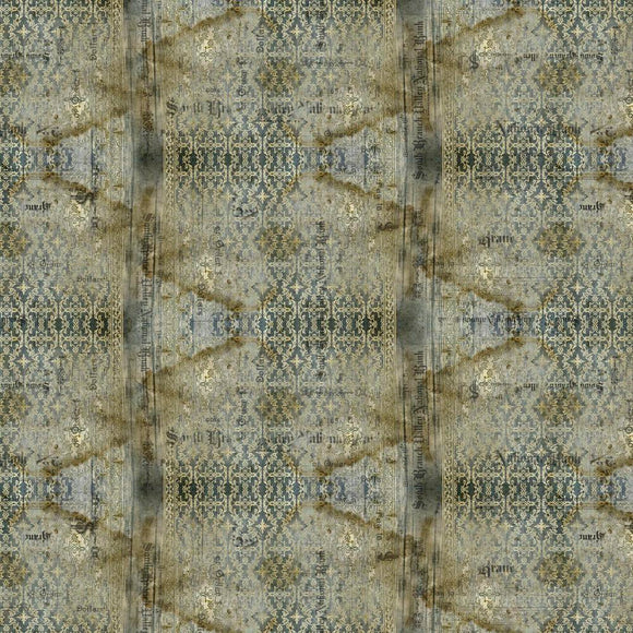 Abandoned Eclectic Elements Stained Damask