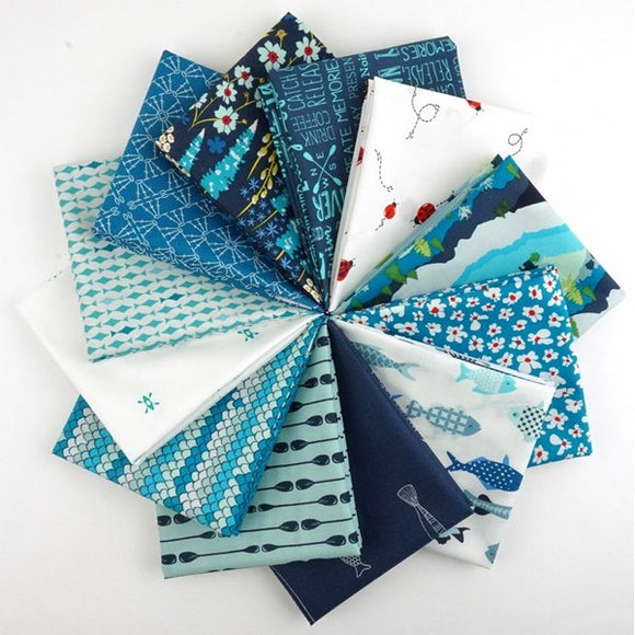 Catch and Release Fat Quarter Bundle by Mister Domestic