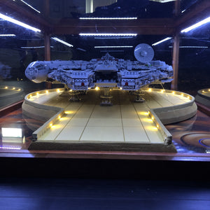 Customized Lego UCS Millennium Falcon Coffee Table