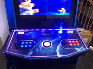 LED Edge Lit Control Panel for Arcade Cabinet