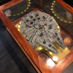 Completed Millennium Falcon table