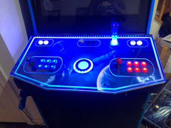 Lighted arcade control panel