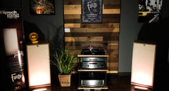 CCHobbyFun lighted signs featured in Klipsch Heritage showrooms