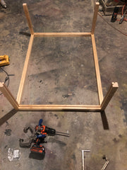 Pine board Falcon table frame