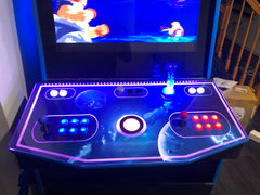 Finished lighted arcade control panel