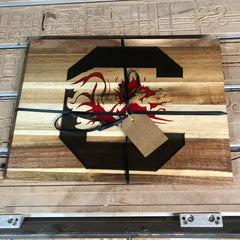 Finished Gamecock Cutting Board