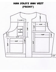 Han Solo A New Hope Vest Pattern Front