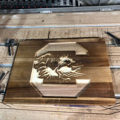 Gamecock Cutting Board Engrave