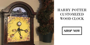 Harry Potter Customized Wood Clock