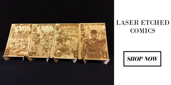 Laser Etched Comics