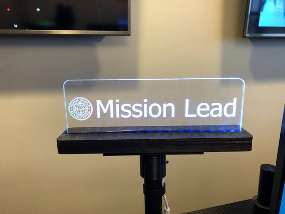 4x Edge Lighted Signs and Mounts - CCHobby