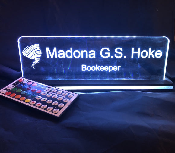 5x Edge Lighted Signs and Mounts - CCHobby