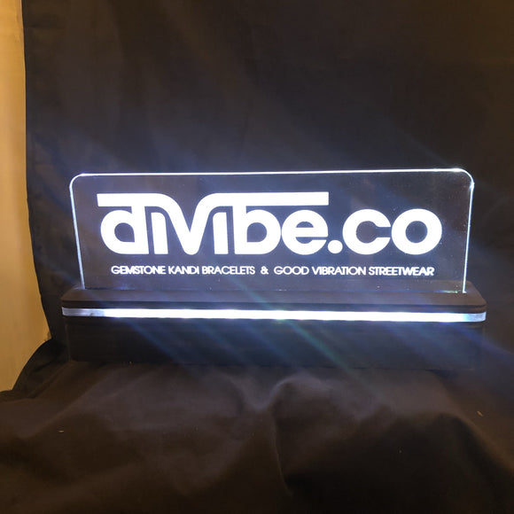 Battery Powered Lighted Acrylic Sign - Battery Fully Enclosed - CCHobby