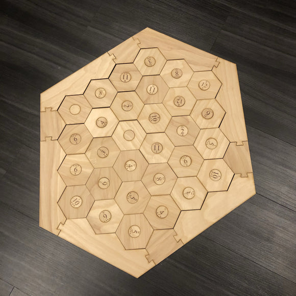 Custom 5-6 Player Settlers of Catan Board Set with Laser Etched Terrain, Border and Number Pieces - CCHobby