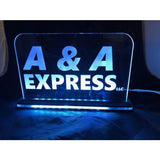 "Custom Business Sign Edge Lit Acrylic Laser Engraved and Cut Sign 6""x6"" or 8""x10"" - CCHobby"