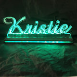 Custom Cut Name Sign Edge Lit LED Acrylic Sign - CCHobby