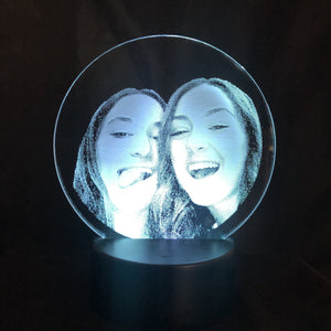 Custom Laser Etched Photo Lighted Acrylic Sign - CCHobby