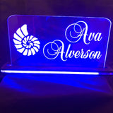 "Custom LED Edge Lighted Acrylic Laser Engraved and Cut Sign 6""x6"" or 8""x10"" With Remote - CCHobby"