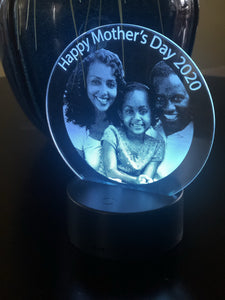 Custom Mother's Day Photo Lighted Acrylic Sign - CCHobby