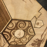 Custom Settlers of Catan Board Set with Laser Etched Terrain, Border and Number Pieces - CCHobby