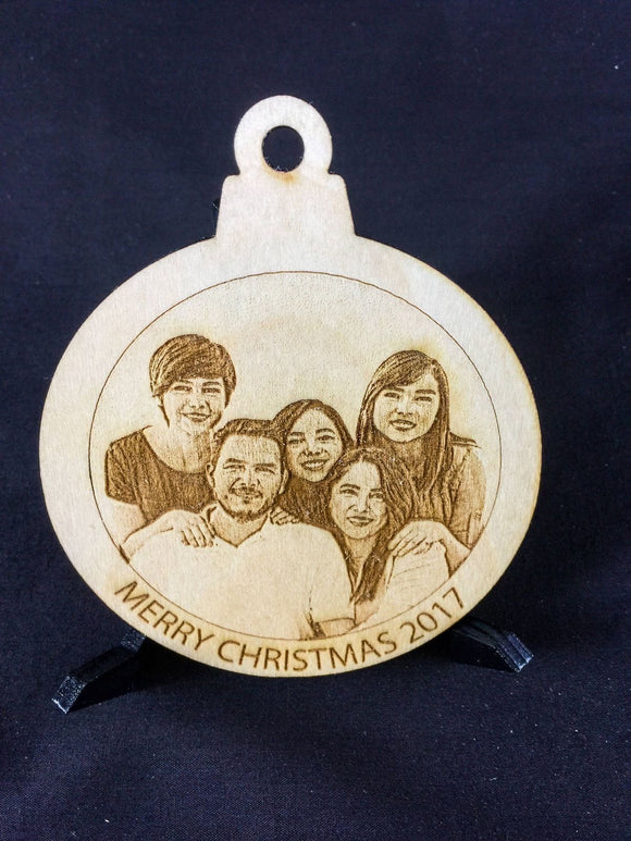 Customized Wood Christmas Ornament with Your Photo - CCHobby