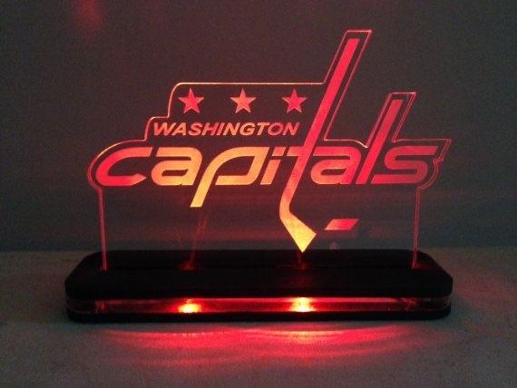 Edge Lighted Washington Capitals NHL Sign - CCHobby