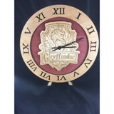 Gryffindor Hogwarts House from Harry Potter Laser Cut Stained Wood Clock - CCHobby