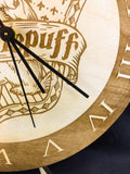 Hufflepuff Hogwarts House from Harry Potter Laser Cut Wood Clock - CCHobby