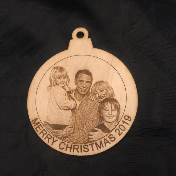 Customized Wood Christmas Ornament with Your Photo