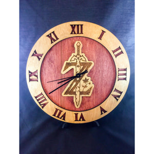 Legend of Zelda Breath of the Wild Stained Wood Laser Cut Clock - CCHobby