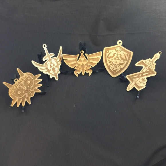 Legend of Zelda Wood Laser Cut Christmas Ornaments Set of Five - CCHobby