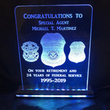 Lighted Custom Award LED Signs - CCHobby