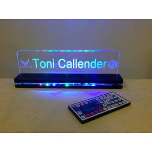 Lighted Nameplate Edge Lit Acrylic - CCHobby