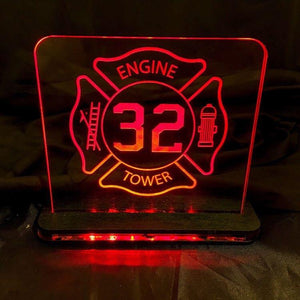 Military and EMS Edge Lit Acrylic LED Sign - CCHobby