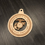 Military Branch Seal Christmas Ornaments Army, Navy, Air Force or Marines - CCHobby