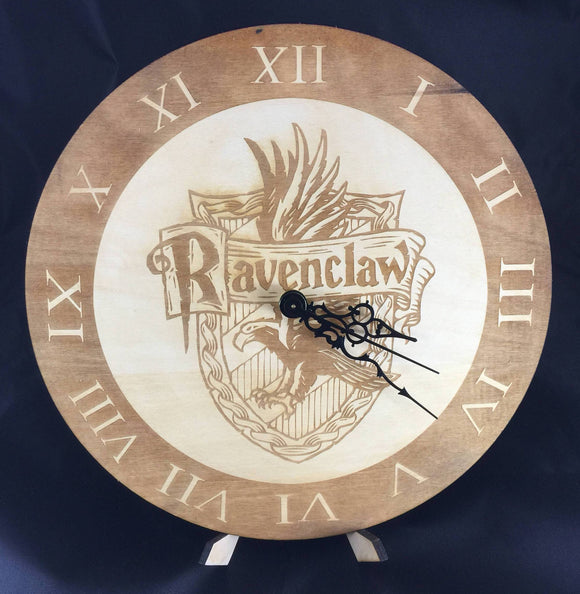 Ravenclaw Hogwarts House from Harry Potter Laser Cut Wood Clock - CCHobby