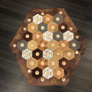 Stained Custom Engraved 5-6 Player Settlers of Catan Board Set - CCHobby