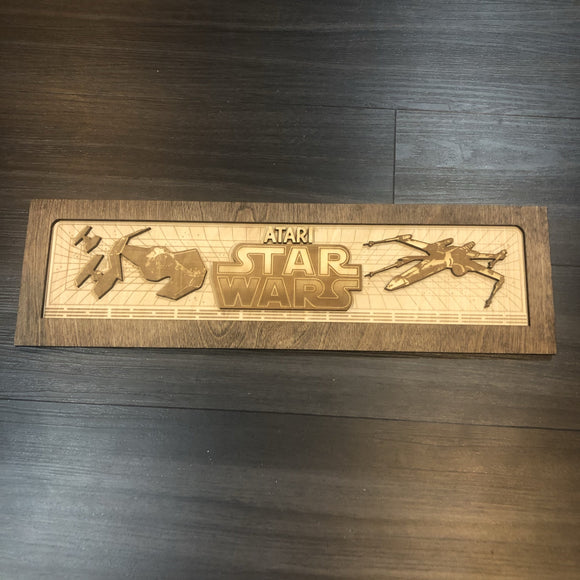 Star Wars Arcade Game Marquee Wood - CCHobby