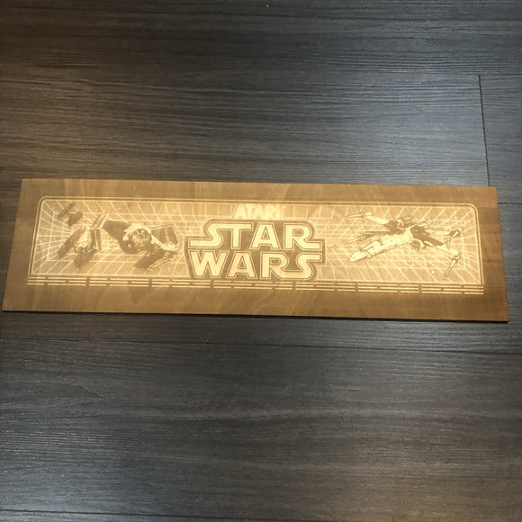 Star Wars Arcade Game Marquee Wood Laser Efched - CCHobby