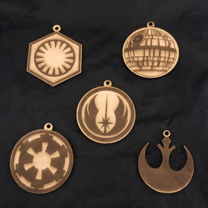 Star Wars Wood Christmas Ornaments Set of Five - CCHobby