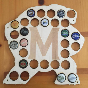 University of Maryland Terrapins Wood Display Collector Beer Bottle Cap Holder - CCHobby