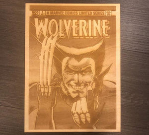 Wolverine #1 Comic Cover Laser Etched - CCHobby