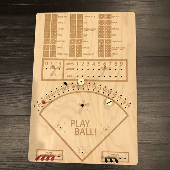 Wood Baseball Dice Game Customizable With YourTeam - CCHobby