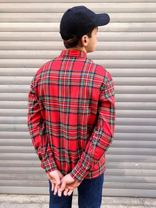 Chemise Tartan Poches Zippees Vintage