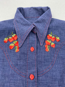 Veste Jean Patch Couleur 1980